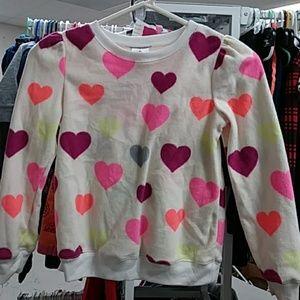 Girls sz 7 365 kids fleece sweatshirt